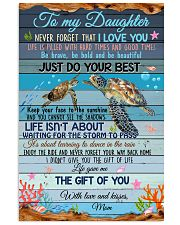 Daughter Turtle Life Gave Me The Gift Of You 11x17 Poster front