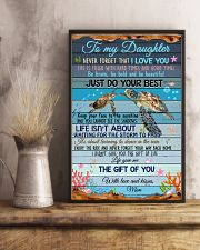 Daughter Turtle Life Gave Me The Gift Of You 11x17 Poster lifestyle-poster-3