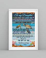 Daughter Turtle Life Gave Me The Gift Of You 11x17 Poster lifestyle-poster-5