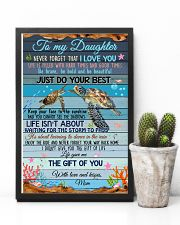 Daughter Turtle Life Gave Me The Gift Of You 11x17 Poster lifestyle-poster-8