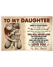 I Want U To Believe In Your Heart Dad To Daughter Horizontal Poster tile