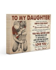I Want U To Believe In Your Heart Dad To Daughter 14x11 Gallery Wrapped Canvas Prints front