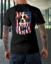 Saint bernard Flag Classic T-Shirt lifestyle-mens-crewneck-back-3
