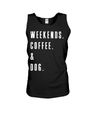 Weekends Coffee and Dog Unisex Tank thumbnail
