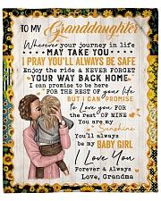 "I Pray U Will Be Safe Grandma To Granddaughter Fleece Blanket - 50"" x 60"" front"