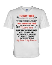 To My Wife My Love My Forever V-Neck T-Shirt thumbnail