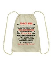 To My Wife My Love My Forever Drawstring Bag thumbnail