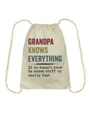 Grandpa Knows Everything Drawstring Bag thumbnail