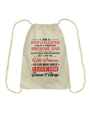 I Am A Stepdaughter Have A Freaking Awesome Dad Drawstring Bag thumbnail