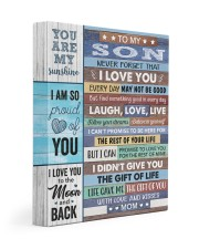 Never Forget That I Love U Mom To Son 11x14 Gallery Wrapped Canvas Prints front
