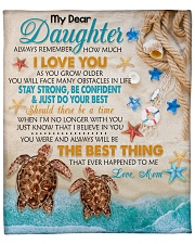 """Daughter Turtle Stay Strong Just Do Your Best Fleece Blanket - 50"""" x 60"""" front"""