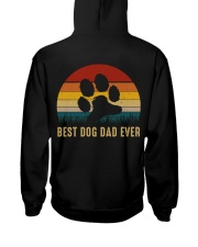 Best Dog Dad Ever Hooded Sweatshirt back
