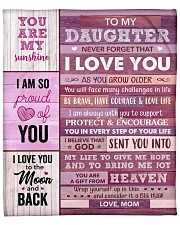"""You Are My Sunshine - Mom To Daughter Fleece Blanket - 50"""" x 60"""" front"""