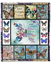 """Butterfly Live Laugh Love Mom To Daughter Fleece Blanket - 50"""" x 60"""" front"""