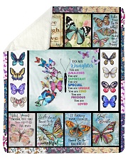 """Butterfly Live Laugh Love Mom To Daughter Sherpa Fleece Blanket - 50"""" x 60"""" thumbnail"""