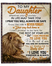 """Wherever Your Journey In Life Lion Dad To Daughter Fleece Blanket - 50"""" x 60"""" front"""