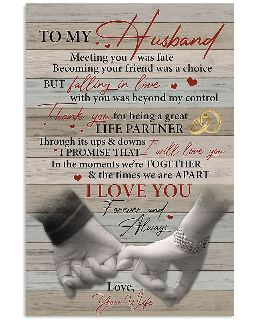 Husband Thanks For Being A Great Life Partner 11x17 Poster