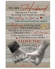 Husband Thanks For Being A Great Life Partner 11x17 Poster front