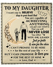 """Daughter Promise To Love You For The Rest Of Mine Fleece Blanket - 50"""" x 60"""" front"""