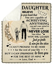 Daughter Promise To Love You For The Rest Of Mine Sherpa Fleece Blanket tile