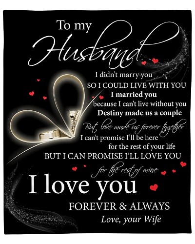 To My Husband I Can't Live Without You