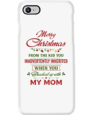 Merry Christmas From The Kid To Step-Dad Phone Case thumbnail