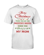 Merry Christmas From The Kid To Step-Dad Premium Fit Mens Tee thumbnail