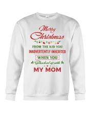 Merry Christmas From The Kid To Step-Dad Crewneck Sweatshirt thumbnail