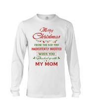 Merry Christmas From The Kid To Step-Dad Long Sleeve Tee thumbnail