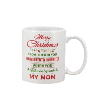 Merry Christmas From The Kid To Step-Dad Mug front
