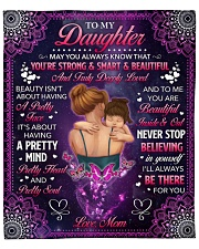 """May U Always Know U Are Strong Mom To Daughter Fleece Blanket - 50"""" x 60"""" front"""