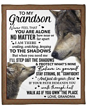 """Never Feel You Are Alone Grandma To Grandson Fleece Blanket - 50"""" x 60"""" front"""