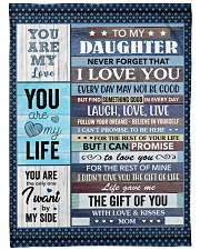 Never forget that I love You Mom To Daughter Fleece Blanket tile