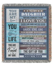 Never forget that I love You Mom To Daughter 50x60 - Woven Blanket tile