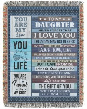 Never forget that I love You Mom To Daughter 60x80 - Woven Blanket tile