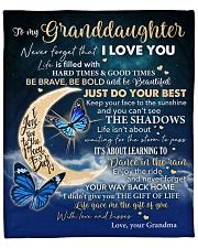 "Moon Be Brave Be Bold Grandma To Granddaughter Fleece Blanket - 50"" x 60"" front"