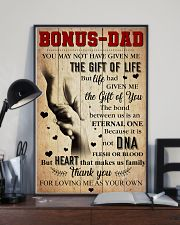 Bonus Dad - Thank you for loving me as your own 11x17 Poster lifestyle-poster-2