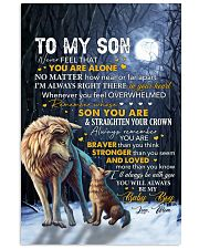 Never Feel That U Are Alone Wolf Mom To Son 11x17 Poster thumbnail