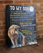 Never Feel That U Are Alone Wolf Mom To Son 11x14 Gallery Wrapped Canvas Prints aos-canvas-pgw-11x14-lifestyle-front-09