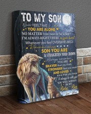 Never Feel That U Are Alone Wolf Mom To Son 11x14 Gallery Wrapped Canvas Prints aos-canvas-pgw-11x14-lifestyle-front-10