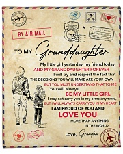 """My Little Girl Yesterday-Grandma To Granddaughter Fleece Blanket - 50"""" x 60"""" front"""