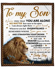 """Never Feel That U Are Alone Lion Dad To Son Fleece Blanket - 50"""" x 60"""" front"""