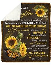 To My Daughter Whenever U Feel Overwhelmed Mom  Sherpa Fleece Blanket tile