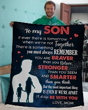 """To My Son I'll Always Be With You Sherpa Fleece Blanket - 50"""" x 60"""" aos-sherpa-fleece-blanket-50x60-lifestyle-front-05"""