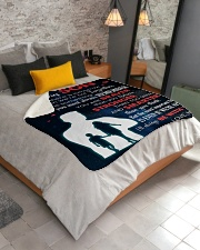 """To My Son I'll Always Be With You Sherpa Fleece Blanket - 50"""" x 60"""" aos-sherpa-fleece-blanket-lifestyle-front-02"""