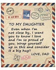 "I Am So Proud Of You Dad To Daughter Fleece Blanket - 50"" x 60"" front"