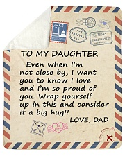 "I Am So Proud Of You Dad To Daughter Sherpa Fleece Blanket - 50"" x 60"" thumbnail"