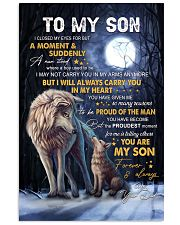 I Closed My Eyes For But A Moment Dad To Son 11x17 Poster thumbnail