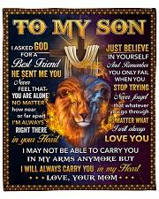 "I Asked God For A Best Friend Lion Mom To Son Fleece Blanket - 50"" x 60"" front"