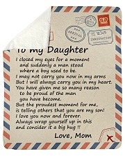 I closed my eyss for a moment Mom-To-Daughter Sherpa Fleece Blanket tile